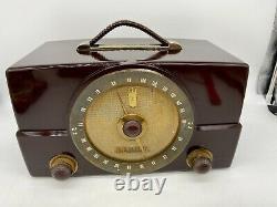 Vintage Zenith 7G01 G725 Tube Radio Tested Working