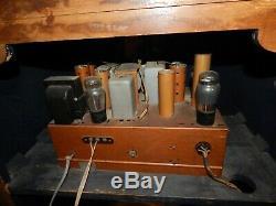 Vintage Zenith 9 Tube- Shutter Dial Radio- Works