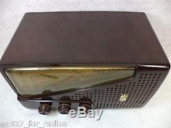 Vintage Zenith AM/FM Bakelite Tube Radio Model G723-RESTORED