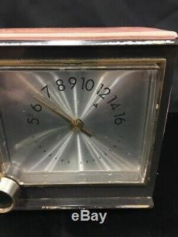 Vintage Zenith Alarm Clock Radio Pink CLOCK AND RADIO Working