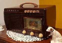Vintage Zenith Bakelite AM/SW Tube Radio 6-S-511 (1941) COMPLETELY RESTORED