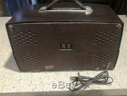 Vintage Zenith Bakelite Tube AM/FM Radio H725 45 Watts Working
