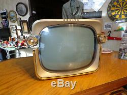 Vintage Zenith Bugeye Tube Television-model Z1511b-chassis 16z25-1957
