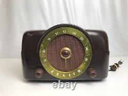 Vintage Zenith COBRA-MATIC Model J664 Tube Radio Phonograph Bakelite Case preown