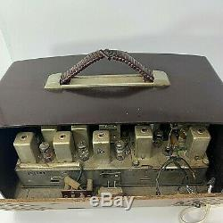 Vintage Zenith Chicago Tube Radio Model H725 Bakelite 1950's Working condition