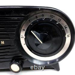Vintage Zenith Clock Tube Radio L515 Owl Eye 1950's Mid Century Modern
