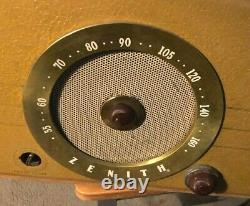 Vintage Zenith Cobra-Matic Variable Speed Turntable, AM Radio Receiver, Tube