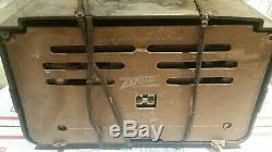 Vintage Zenith Consol-Tone AM Tube Radio for parts/restoration