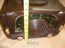 Vintage Zenith Consol-Tone Tube Radio Model 6D615 For Repair Art Deco