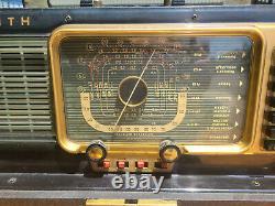 Vintage Zenith G500 Trans Oceanic Radio with Extra Tubes 1U4 1U5 1L6 3V4