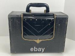 Vintage Zenith G503-Y Flip Up Dial Portable AM Tube Radio 1950s Era Working USA
