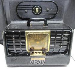 Vintage Zenith G-500 Trans-Oceanic Radio 5G40 Chassis Portable S/W AM Radio
