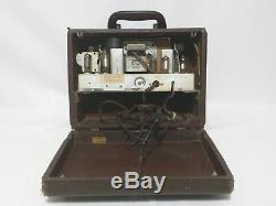 Vintage Zenith Glass Tube Flip Up AM Suitcase Traveling Mid Century G503 Radio