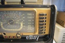 Vintage Zenith H500 Super Trans Oceanic Portable Tube Radio Ham Works Guide Case