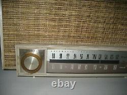 Vintage Zenith K725 AM FM Mid Century Tube Radio Working