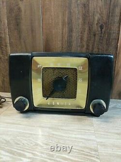 Vintage Zenith Long Distance AM Radio Model No. H615ZYP PARTS/REPAIR