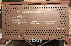 Vintage Zenith Long Distance Radio Model K731 AM FM