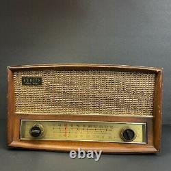 Vintage Zenith Long Distance Tube Radio S-52224 1940s/1950s With Phono Input-5266