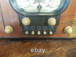 Vintage Zenith Model 5-S-319 Racetrack Dial Tube Radio Working! Looks Great