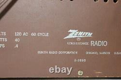 Vintage Zenith Model X337 High Fidelity AM/FM Radio 1960's Awesome Sound