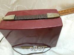Vintage Zenith Portable Zenette Bakelite Tube Radio MID Century 1947 USA