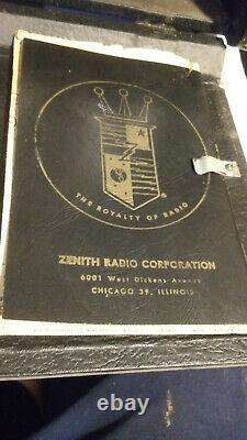 Vintage Zenith R600-R600L Trans-Oceanic Clipper Short Wave Tube Radio 1956