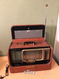 Vintage Zenith R600 Trans-Oceanic Multiband Radio ShortWave Magnet Tube Portable