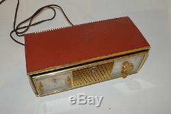 Vintage Zenith Telechron Model C520V AM Clock Tube Radio Tested & Working