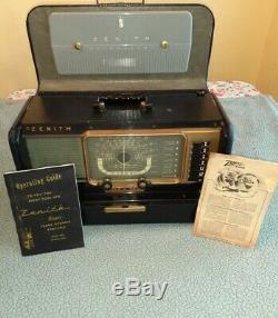 Vintage Zenith TransOceanic Radio Model H500 chassis 5h40 complete. Working