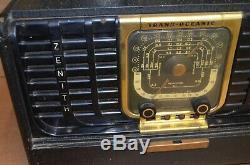 Vintage! Zenith Trans-Oceanic Short Wave Radio Receiver Wave-Magnet