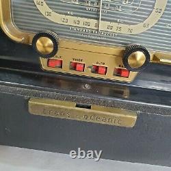 Vintage Zenith Trans Oceanic Tube Radio 50s Model H500 Shortwave Original Works