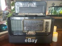 Vintage Zenith Trans-Oceanic Wave Magnet Multi-Band Shortwave Radio w Tubes RARE