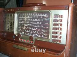 Vintage Zenith Trans-Oceanic Wave-Magnet Radio, Model A600L, Deluxe