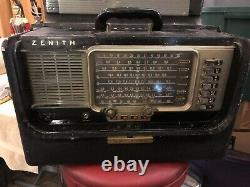 Vintage Zenith Trans Oceanic Wave Magnet Radio Model L600 Chassis 6t40