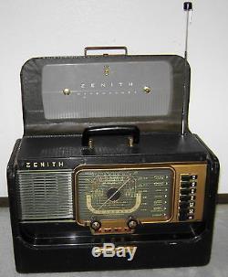 Vintage Zenith Trans-Oceanic Wavemagnet Shortwave Tube Radio-Transoceanic-Works
