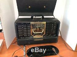 Vintage Zenith Trans-Oceanic Wavemagnet tube radio sw multi-band portable H500
