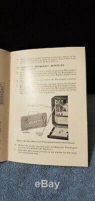 Vintage Zenith Trans-Oceanic Wavemagnet tube radio sw multi-band portable H500