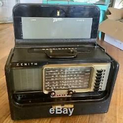 Vintage Zenith Trans-oceanic Wave Magnet Multi-band Shortwave Radio