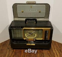 Vintage Zenith Transoceanic H500 Wave Magnet Short Wave Tube Radio with Extras