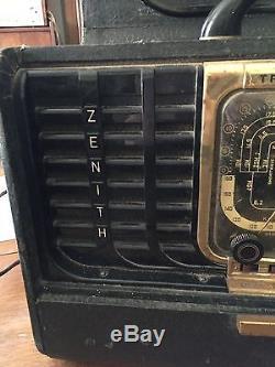 Vintage Zenith Transoceanic Radio 1948 Model 8G005TZ1Y Working