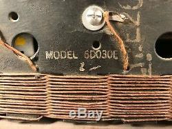 Vintage Zenith Tube Radio Model 6D030E Eames Mid Century Modern Plywood Walnut