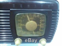 Vintage Zenith Tube Radio, Model 6-D-510, Brown Bakelite, 1940