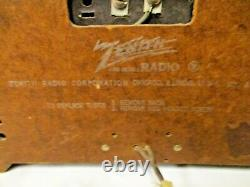 Vintage Zenith USA Bakelite Center Dial Radio S14128, Chassis 7G01-FM Armstrong
