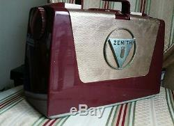 Vintage Zenith Wave Magnet Portable Tube Radio