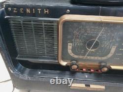 Vintage Zenith Wave Magnet Trans Oceanic 1950s Works