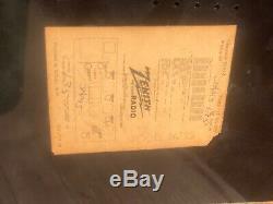 Vintage c. 1940 Bakelite Zenith AM/FM Tube Radio Model S-14128 // Works (#2536)