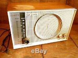 Vtg 50's Zenith High Fidelity AM/FM/FMC Tube Radio withPhono Input Works 666