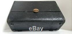 Vtg Antique ZENITH Long Distance AM Tube Type Radio Black Dial Model 6G001Y