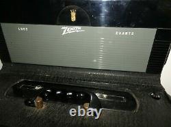 Vtg. MID Century Zenith Wave-magnet Trans Oceanic World Band A600 Radio