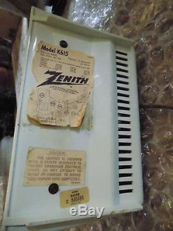 Vtg RARE Retro Space Age Zenith Model K615B AM Radio Seafoam Green Working COOL